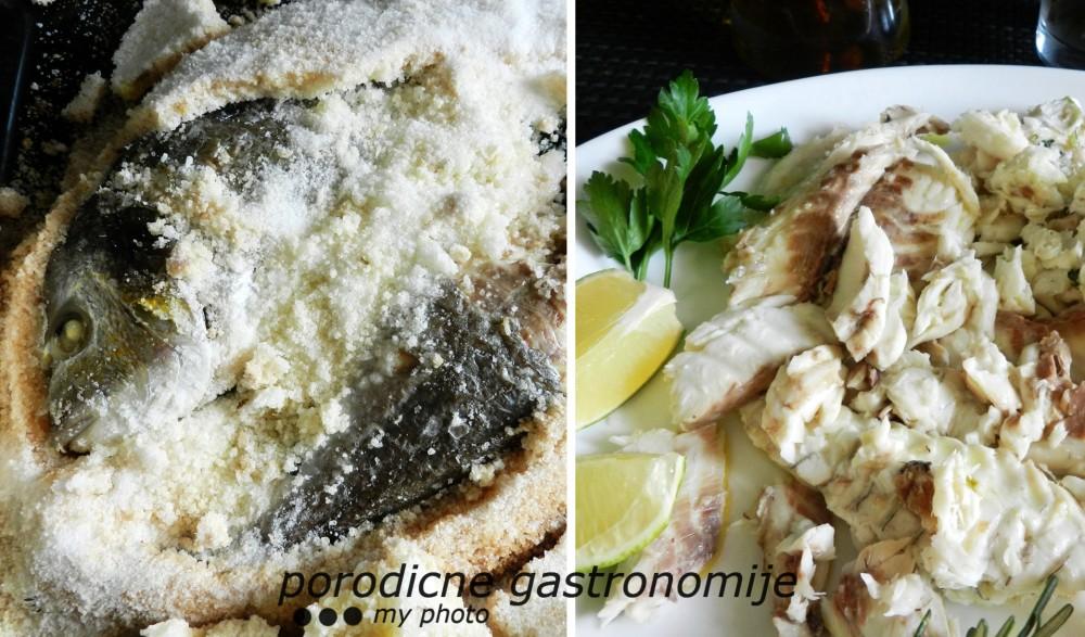 Riba u mirisnoj korici od soli