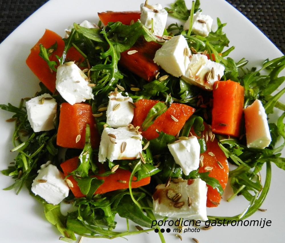 salata od pecene bundeve i fete